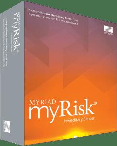 Blood test for cancer. MyRisk hereditary cancer screening test